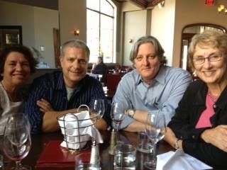 JWZ with author friends Lynne Raimondo, Mark Pryor, and Terry Shames