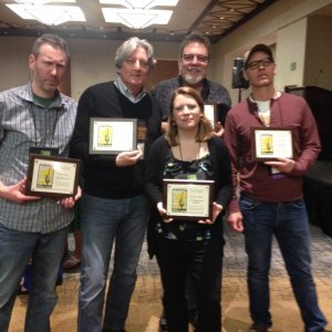 Left Coast Crime 2016. With fellow Lefty nominees Chris Holm, Susanna Calkins, Josh Stallings, and Lou Berney