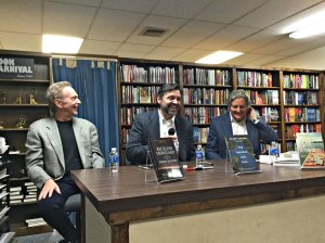 With Robert Rotstein and Allen Eskens at Book Carnival in Orange, CA, November 14, 2016.