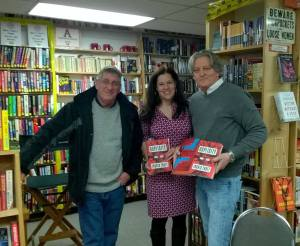 With Ingrid Thoft and M. A. Lawson at Seattle Mystery Bookshop, January 21, 2017.