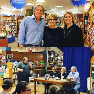 At Bookpeople in Austin, Texas, with Terry Shames, Melissa Lenhardt, and Scott Montgomery, January 24, 2017.