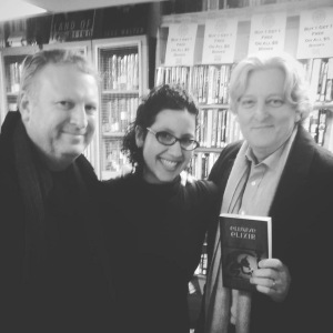 With Gigi Pandian and Jim Thomsen at Seattle Mystery Bookshop.